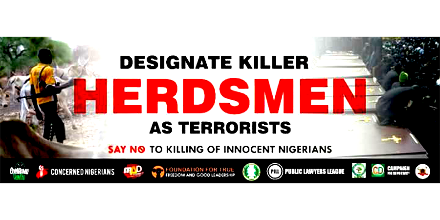 Designate Killer Herdsmen as terrorist banner © I am Benue 2018